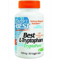 Doctor's Best Best L-tryptophan (500 mg) Featuring Tryptopure, Veg Capsules (90)
