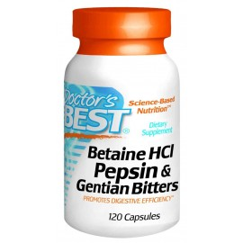 Doctor's Best Betaine HCI Pepsin and Gentian Bitters Capsules (120)