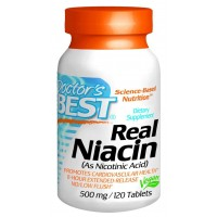 Doctor's Best Real Niacin (Extended Release) 500mg Tablets (120)