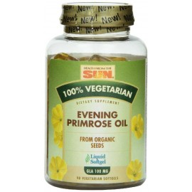 Health From The Sun 100% Vegetarian Evening Primrose Oil 1000 mg Softgels, 90