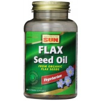 Health From The Sun 100% Vegetarian Flax Seed Oil Softgels, 90