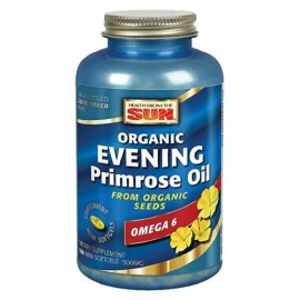 Health From The Sun 100% Vegetarian Evening Primrose Oil 500 mg Softgels, 180