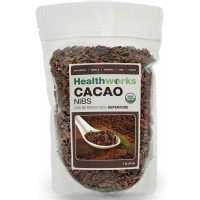 Healthworks Raw Certified Organic CACAO Nibs 1 lb (454 gm)