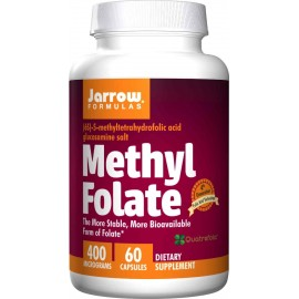 Jarrow Formulas Methyl Folate 5-MTHF 400 Mcg 60 Capsules - Folic Acid