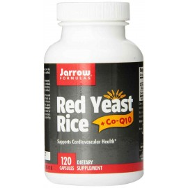 Jarrow Formulas Red Yeast Rice 600 mg + Co-Q10 Formula 50 mg, 120 Capsules
