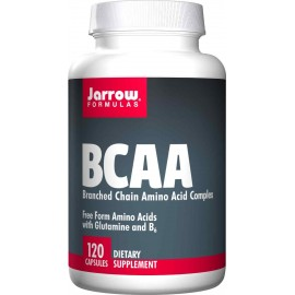 Jarrow Formulas BCAAC with Glutamine and B6, 120 Capsules