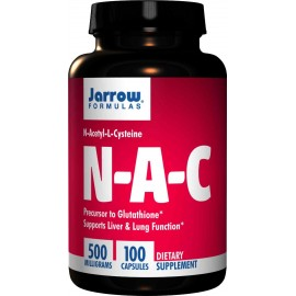 Jarrow Formulas N-A-C (N-Acetyl-L-Cysteine), 500mg Capsules - Liver & Lung Function