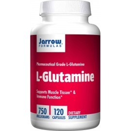 Jarrow Formulas L-Glutamine 750mg, 120 Capsules - Supports Muscle Tissue, Immune Function