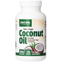 Jarrow Formulas Coconut Oil 100% Organic, Extra Virgin, 1000 mg Softgels (120)