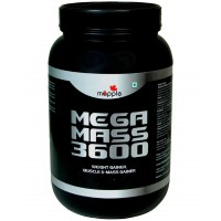 Mapple MEGA MASS 3600 Whey Protein Supplement 600g