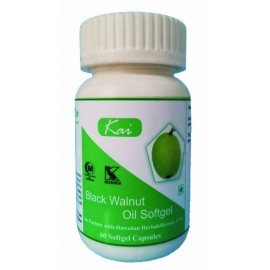 Hawaiian Herbal, Hawaii, USA - Black Walnut Oil Softgels