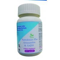 Hawaiian Herbal, Hawaii, USA - Nattokinase Plus Astaxanthin & Coq10 Capsules