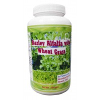Hawaiian Herbal, Hawaii, USA - Barley Alfalfa With Wheat Grass Powder 200 gm Bottle