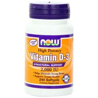 NOW Foods Vitamin D3 2000 IU Softgels