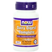 NOW Foods DAIRY DIGEST Complete Veg Capsules (90) - Dairy Tolerance