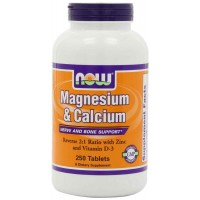 NOW Foods Magnesium and Calcium Reverse Tablets (250)