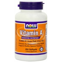 Now Foods Vitamin A, 25000 IU from Fish liver oil, Softgels (250)
