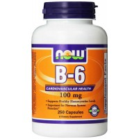 NOW Foods Vitamin B-6 100 mg Capsules (250)