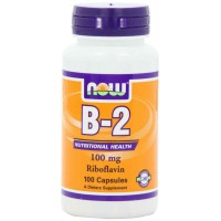 NOW Foods Vitamin B-2 (Riboflavin) 100 mg Capsules (100)