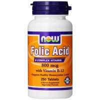 NOW Foods FOLIC Acid 800mcg Tablets (250)