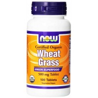 Now Foods Organic WHEAT GRASS 500 mg Tablets (100)
