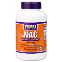 NOW Foods NAC-ACETYL CYSTEINE 600 mg Veg Capsules (250) - Free Radical Protection