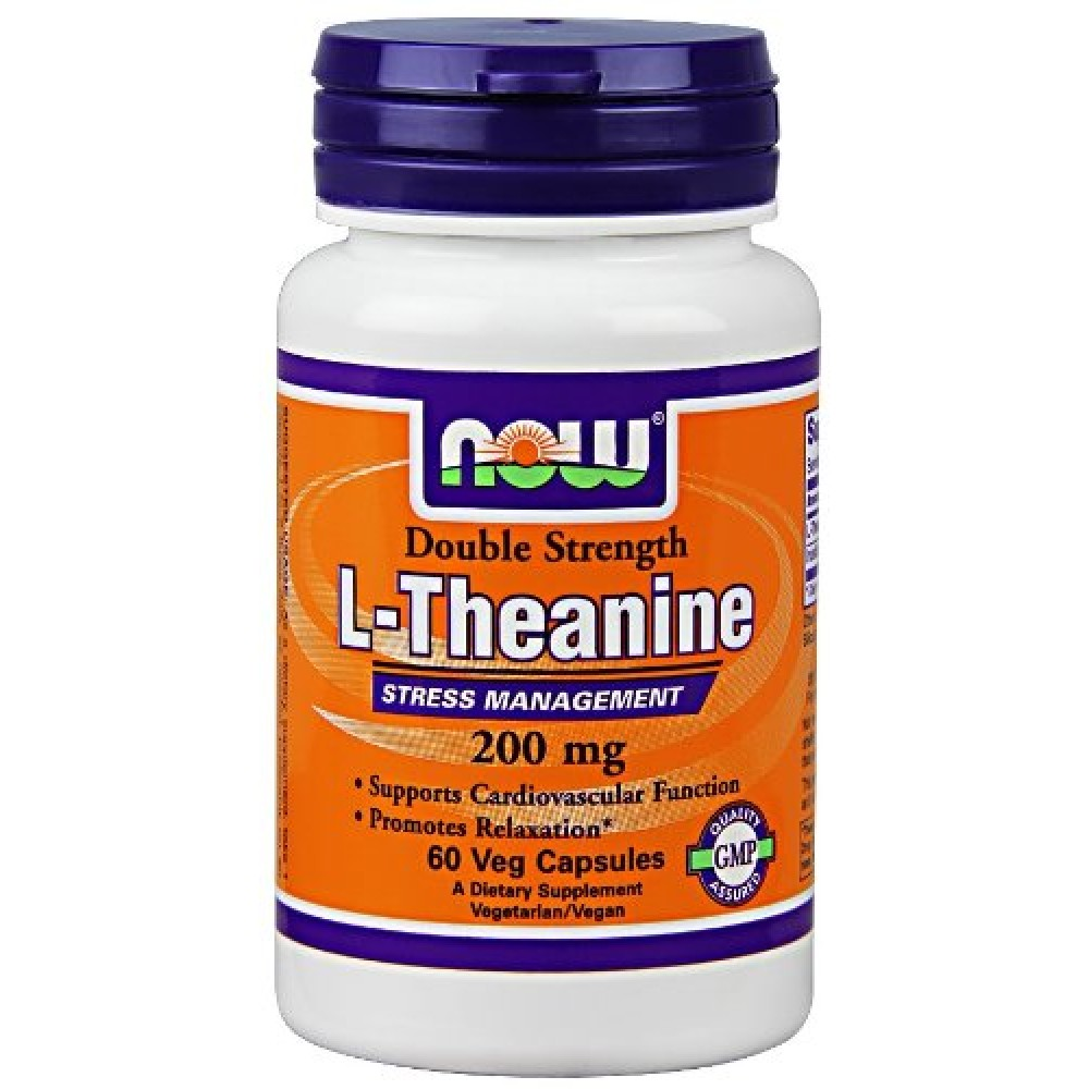 Stress Test Double Product: Buy Now Foods L-Theanine 200 Mg Veg Capsules (60)