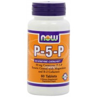 NOW Foods P-5-P, 50 mg, 60 Tablets - Coenzyme Catalyst