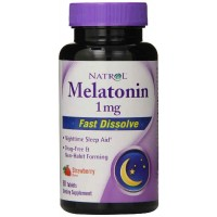 Natrol MELATONIN 1mg Fast Dissolve Tablets, Strawberry, 90 Tablets - Sleep Aid