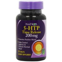 Natrol 5-HTP TR Time Release, 200mg, 30 Tablets - Positive Mood, Relaxation