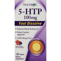 Natrol 5-HTP HFF Fast Disolve 100mg, 150 Tablets - Positive Mood, Relaxation