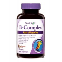 Natrol B-COMPLEX Fast Dissolve 90 Tablets, Coconut Flavor