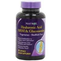 Natrol Vegetarian Hyaluronic Acid MSM and Glucosamine, 90 Capsules - Joint Support
