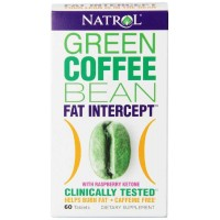 Natrol FAT INTERCEPT 60 Tablets, Green Coffee Bean with Raspberry Ketones