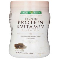 Nature's Bounty Protein Shake Mix, Decadent Chocolate, 16 Ounce (453 gm)