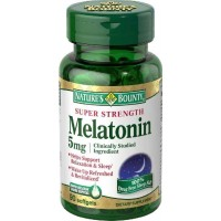 Nature's Bounty MELATONIN Super Strength 5mg, 60 Softgels - Sleep Aid