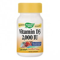 Nature's Way Vitamin D3 2000 IU (120 Softgels)