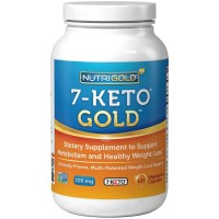 NutriGold 7-Keto 100mg Veg Capsules (120) - Weight Loss