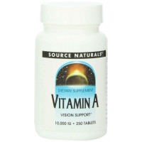 Source Naturals Vitamin A Palmitate 10,000IU, 250 Tablets
