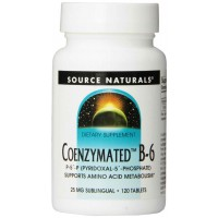 Source Naturals Coenzymated B-6, 25mg, 120 Tablets
