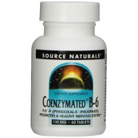 Source Naturals Coenzymated B-6 100mg, 60 Tablets