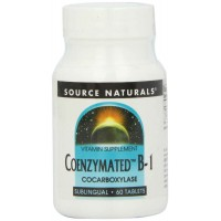 Source Naturals Coenzymated B-1, 25mg, 60 Tablets