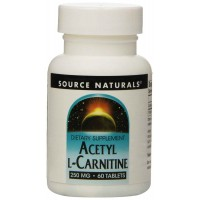 Source Naturals Acetyl L-Carnitine, 250mg, 60 Tablets