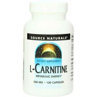Source Naturals L-Carnitine, 250mg, 120 Capsules