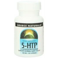 Source Naturals 5-HTP, 100mg, 30 Capsules - Relaxation, Sleep