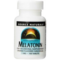 Source Naturals Melatonin 1mg, Orange, 100 Tablets - Sleep Aid