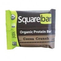 Squarebar Organic Protein Bar, Cocoa Crunch, 12 Bars, Each 1.7 Oz (48 gm)
