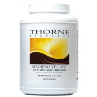 Thorne Research MediPro Vegan All-In-One Shake, Chocolate 49.7 oz (1410 gm)