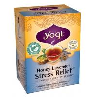 Yogi Honey Lavender Stress Relief Tea (16 Tea Bags) - Pack of 2