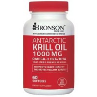 ANTARCTIC KRILL OIL1000 mg with Astaxanthin 60 Softgels (30 days) - Bronson Labs